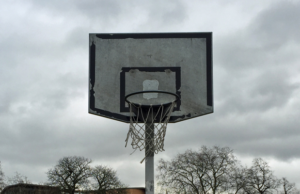 Basketball hoop in England