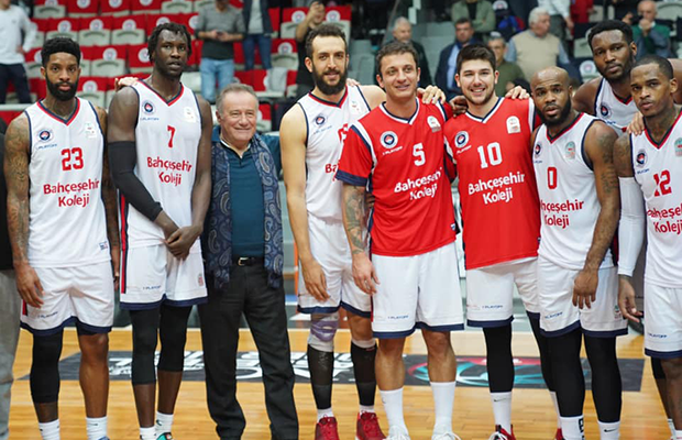 Enver Yucel and Bahcesehir College Basketball