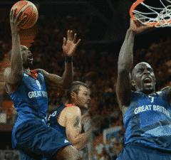 Luol Deng Pops Mensah-Bonsu GB Olympics