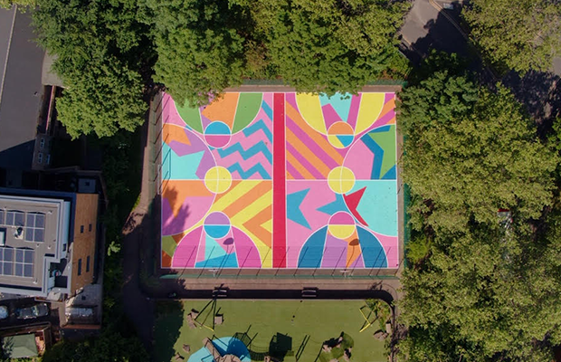 New art basketball court completed in East London