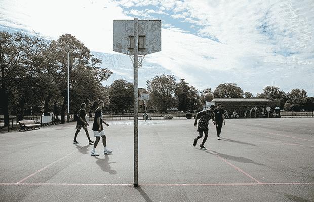 Clapham Common basketball court
