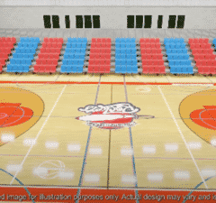 City of Birmingham Rockets 2k basketball court refurbishment