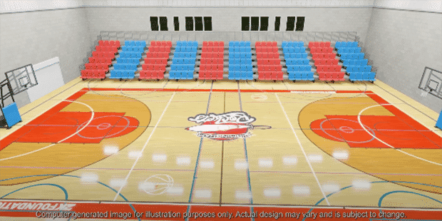 City of Birmingham Rockets 2k basketball court refurbishment