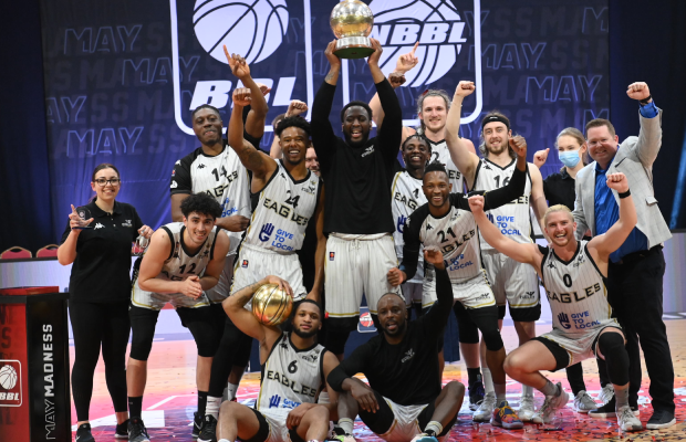 Newcastle Eagles battle back to win seventh playoffs title
