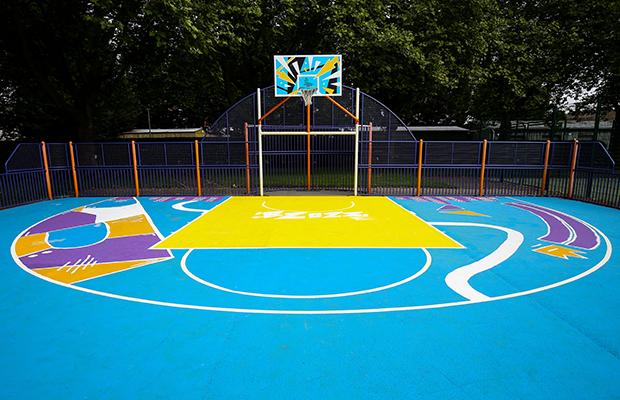 Art basketball court Birmingham