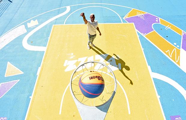 Kofi Josephs Designed Art Basketball Court