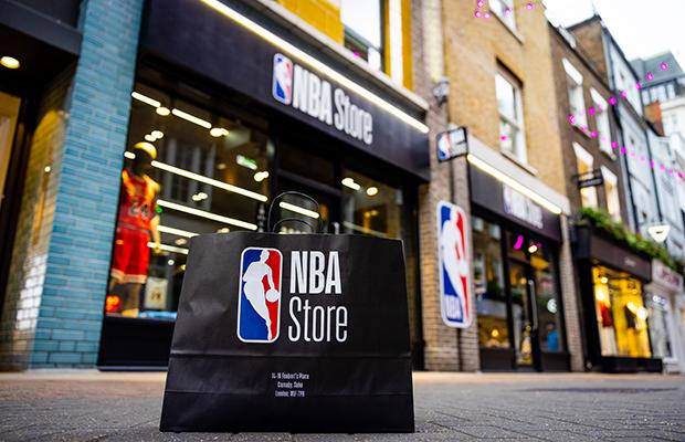 NBA Store shopfront UK