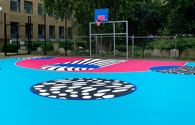 Joseph Grimaldi Basketball court hoop